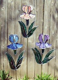 Gerry Klein Photo Gallery - Stained Glass/Iris Plantstakes