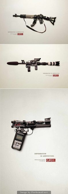 Armi d'#informazione di massa. Attualissima campagna per la libertà di stampa. #adv #advertising #pressfreedom