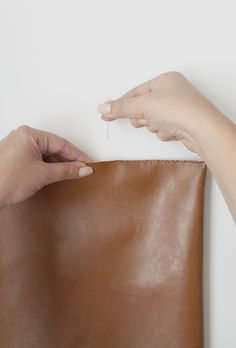 diy easy leather laptop case | almost makes perfect