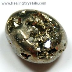 Pyrite is a very protective stone, shielding the user from negative energy of all kinds.   Pyrite blocks energy leaks and mends auric tears.  Carry pyrite in your pocket to protect you from both environmental pollution and physical danger.  Used on the Third Eye, Pyrite strengthens mental abilities and awareness of higher forms of knowledge.  Pyrite also promotes good physical health and emotional well-being.
