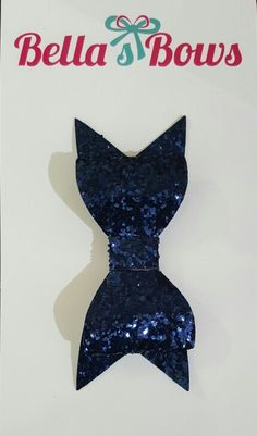 Navy Sparkle Bows - available at Bella's Bows.