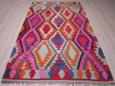 "Anatolia Turkish Antalya Barak Kilim 57"" x 96 4"" Area Rug Carpet Wool | eBay"