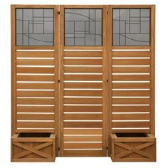 Yardistry Garden Screen with Planter Boxes - YM11658 - Outdoor Privacy Screens at Hayneedle