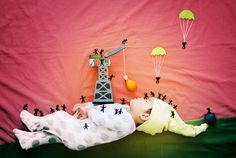 Super-Talented Mother, Calfifornia-based artist Queenie Liao, Turns Her Sleeping Baby Into Magical Works Of Art (via BuzzFeed)