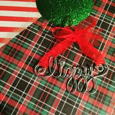*** ALL ORDERS MUST BE PLACED BY DECEMBER 3RD TO GUARANTEE DELIVERY BY CHRISTMAS! ***  These silver wire name ornaments are made to order. Letters are approximately 1-1.5 inches tall. Lettters are crafted in lower-case. Please message me with name and ribbon color preference in message with order. They make great gifts! Order one today for the new baby in the family, a last name, a pet name or just for you and your children!  *Please order at least two weeks before date needed by, thanks…