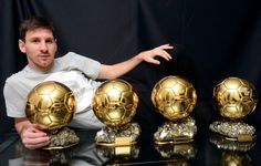 Lionel Messi has won the 2015 FIFA Ballon d' Or Award after beating of the challenge from Ronaldo and Neymar. It was Messi's fifth award . Lionel Messi, Messi 10, Football Players Names, Good Soccer Players, Neymar, Cristiano Ronaldo, Messi Pictures, Football Pictures, Messi News
