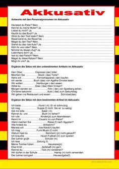 Welcome to German - accusative, German Grammar, German Words, Akkusativ Deutsch, German Resources, Deutsch Language, German English, German Language Learning, Grammar And Vocabulary, Learn German