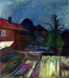 Edvard Munch (1863-1944) was een Noorse kunstschilder. Confrontaties met ziekte en dood lieten in hem de hartstocht voor de kunst ontwaken. Munch was niet alleen in de schilderkunst actief; nadat hij in 1894 begon te etsen, maakte hij ook nog lithografieën en houtsneden. Zijn werken waren vooral post-impressionistisch, maar droegen ook veel bij tot het expressionisme.- 1903