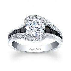 His Hers 4 PCS Black IP Stainless Steel CZ Wedding Ring SetMens