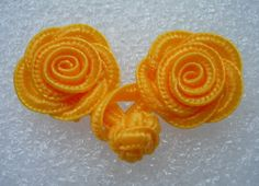 Orange Rose Chinese Frog Closure Buttons Knots Hakusanalla chinese frog closure