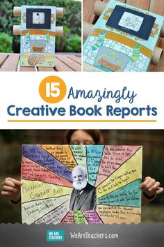 15 Amazingly Creative Book Reports Book reports dont have to be boring Help your students make the books they read come alive with these 15 creative book report ideas and. 6th Grade Reading, 6th Grade Ela, Middle School Reading, Teaching 6th Grade, Middle School English, Eighth Grade, Book Report Projects, Reading Projects, Book Projects