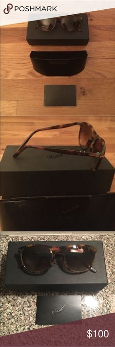 Persol Women's Sunglasses Never been used Persol women's sunglasses. Tortoise shell frame, photo polar lenses, silver accents. Box, case and Persol pamphlet included. Persol Accessories Sunglasses