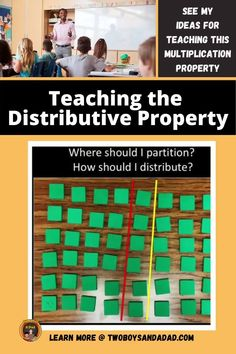 When you're third graders are starting to learn about the Distributive Property of Multiplication, is it rough going? It's a difficult concept to teach as well as learn. But I have found activities and approaches that help conceptual understanding that builds to procedural fluency with this multiplication property. Discover and learn more about the anchor chart we make, the activities we do and more. #twoboysandadad Distributive Property Of Multiplication, Properties Of Multiplication, Multiplication Activities, Math Tips, Math Strategies, Teaching Math, Teaching Resources, Standards For Mathematical Practice, Teaching Addition