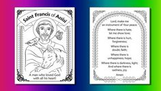 Celebrate October the feast day of Saint Francis of Assisi with St. Francis of Assisi Coloring pages for Catholic Kids, and learn about St. Francis of Assisi. Francis Of Assisi, St Francis, Sunday School Crafts For Kids, Ancient World History, Classroom Crafts, Classroom Ideas, Catholic Kids, Religious Education, Vacation Bible School