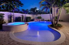 Love the lighting and beach-like entrance #swimmingpools