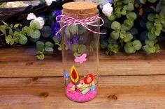 Μπουκάλια Ευχών 17cm GWB5161-3  Μπουκάλια ευχών με χειροποίητα σχέδια ζωγραφισμένα στο χέρι.Διαστάσεις μπουκαλιού: 6,8x17cmΧρώμα: ΡοζΔιάθεση ανά τεμάχιο.