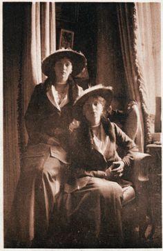Postcard of Grand Duchesses Olga and Tatiana...