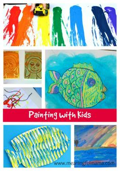 Painting with Kids - Link Party - Giveaway - Meaningful Mama