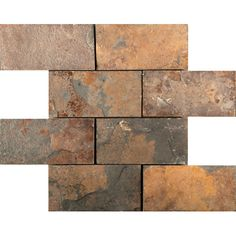 Found it at Wayfair - Slate Mosaic Tile in Multi-colored