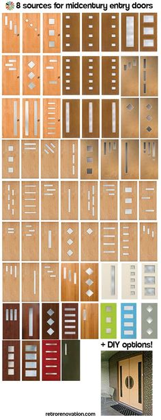 Doors galore - 8 places to find midcentury modern entry doors + DIY tips - Retro…