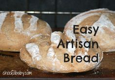 Easy Artisan Bread recipe: egg- and dairy-free! Artisan Bread Recipes, Homemade Breads, Daily Bread, Dairy Free, Side Dishes, Sweet Tooth, Egg, Lunch, Diet
