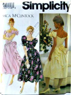 Vintage Simplicity 7660 Jessica McClintock by VintageNeedleFinds,