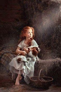 Girl and dog – kleines Mädchen mit Hund - Dog Photography Animals For Kids, Cute Animals, Children Photography, Art Photography, Illustration, Girl And Dog, Beautiful Paintings, Beautiful Children, Dog Art