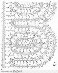 koronka brugijska - schematy i porady - paczka 1 1 - Ro… na Stylowi.pl Filet Crochet, Crochet Lace Edging, Crochet Doily Patterns, Crochet Diagram, Crochet Chart, Lace Patterns, Thread Crochet, Crochet Designs, Crochet Doilies
