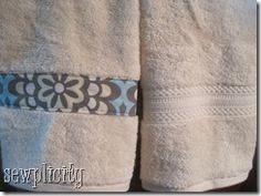 Trimming Towels: 1/4 yd fabric   > Coordinating thread. Use different fabric for each kid so it's easy to tell there towels apart.