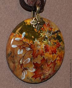 """Кулоны, подвески ручной работы. Ярмарка Мастеров - ручная работа Кулон """"Осенний блюз"""". Handmade."""