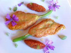Fiori di Zucca fritti con Chutney alle Visciole ~ #veganrecipe #ricettegreen