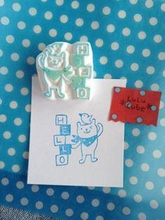 大好きな消しゴムはんことそれにまつわるあれこれを。 Eraser Stamp, Japanese Funny, Japanese Drawings, Stamp Carving, Tampons, Chinese New Year, Cute Drawings, Cube, Stencils