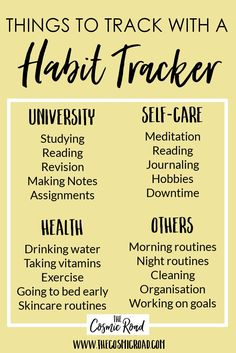 Habit tracking is an amazing way to build and develop good habits or break bad ones. Here is a free printable habit tracker so you can start habit tracking today, and enjoy all the benefits of building study habits, morning routines and taking care of your health.