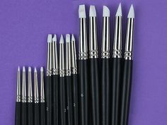 Set of 15 Flexible Silicone Color Shapers Clay Sculpting Tools #0 #2 #6 White