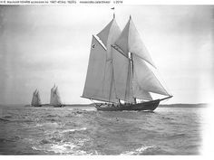 Margaret K. Smith and unidentified Grand Bank schooners. W.R. MacAskill NSARM accession no. 1987-453no. 182½