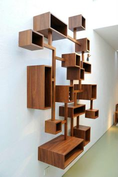 40 Inspiring Display Shelf Ideas To Spruce Up The Walls - Page 26 of 45 - LoveIn Home Box Shelves, Shelving, Display Shelves Ikea, Wood Display, Ikea Furniture, Furniture Design, Furniture Dolly, Etagere Design, Wall Shelves Design