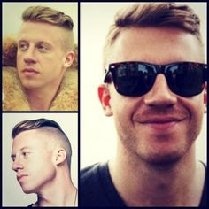 Give your dude Macklemore's Same Love haircut.