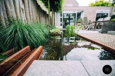 Cortenstalen waterloop ontworpen door Buro Buitenom exterieurontwerpers