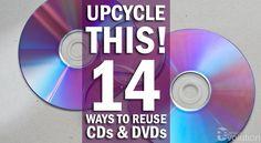 Upcycle Repurpose Reuse CDs DVDs DIY Crafts