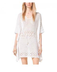 Crochetemoda: Vestido branco de Crochet Michael Kors