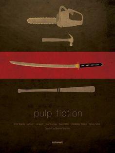 "Minimal movie poster // ""Pulp Fiction"" by Quentin Tarantino Pulp Fiction, Fiction Movies, Inglourious Basterds, Best Movie Posters, Minimal Movie Posters, John Travolta, Reservoir Dogs, Deco Cinema, Poster Minimalista"