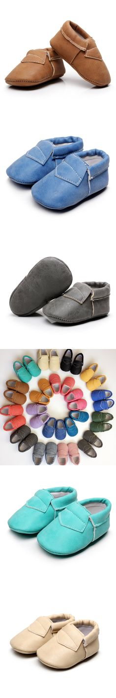Soft Baby Moccasin Shoes Newborn Babies Shoes mocassin bebe PU leather First Walkers Shoes $3.3
