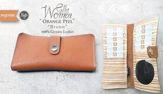 #nvgtrWallet Women. 'Orange Peel' - Genuine Leather. IDR 185rb  SMS / WhatsApp / Line : 08562101653