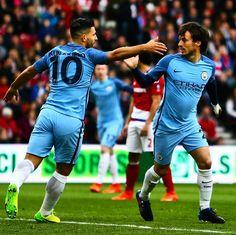 "81.2k Likes, 149 Comments - Manchester City (@mancity) on Instagram: ""⚽️ Double trouble ⚽️ #mcfc #mancity #manchestercity #aguero #silva #sergioaguero #davidsilva"""