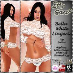 *It's Gau* Bella White Lingerie