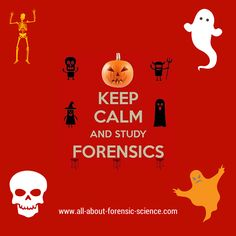Wish someone a Happy Halloween forensic science style!  If you like forensics, you'll love www.all-about-forensic-science.com #ForensicScience #forensics