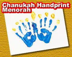 Cute Chanukah Handprint Menorah - toddler craft   For his cousin Rowan!!! Totally making this for him!