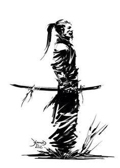 54 Stunningly Samurai Tattoos And Ideas That Are Worth The Pain Samourai Tattoo, Ronin Samurai, Samurai Artwork, Samurai Drawing, Fu Dog, Japanese Warrior, Japanese Dragon, Japon Illustration, Tattoo Illustration