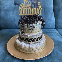 Birthday Money Cake   Etsy Birthday Money, Happy Birthday Signs, Money Necklace, Money Bouquet, Creative Money Gifts, Unique Gifts, Best Gifts, Money Cake, Pink Animals