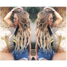 my hair is that length but never looks that good! My Hairstyle, Pretty Hairstyles, Love Hair, Gorgeous Hair, Bayalage Blonde, Blonde Ombre, Aspen Mansfield, Coiffure Hair, Dream Hair